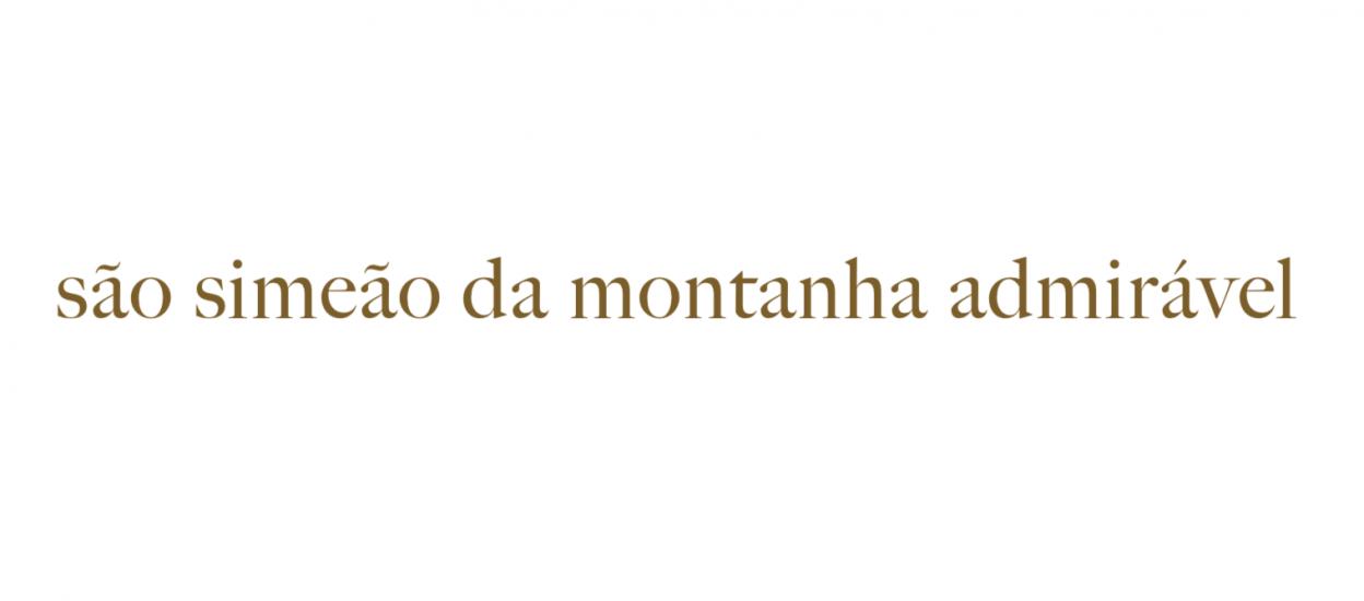 SÃO SIMEÃO DA MONTANHA ADMIRÁVEL